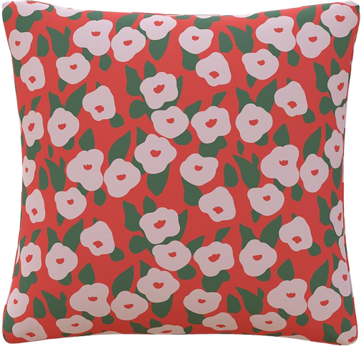 Inspired by Clare V.'s colorful archival patterns, our Throw Pillow in the Red Belle Du Jour provides the perfect pop.