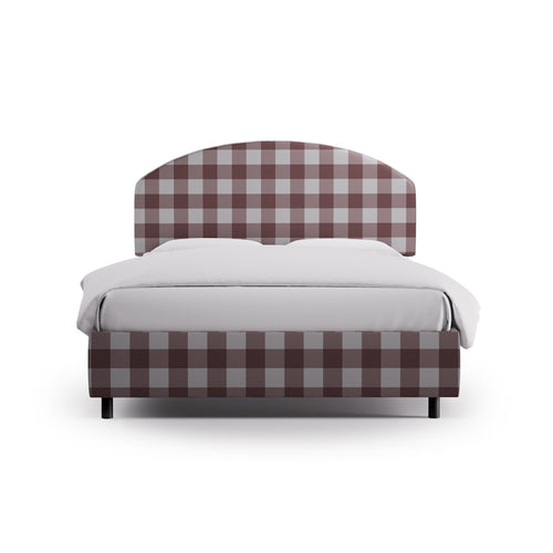 Demilune Bed -  Rose Check