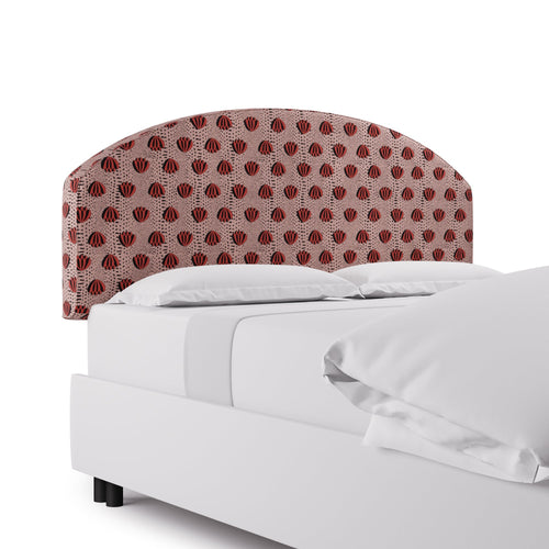 Demilune Headboard -  Red Lotus By Clare