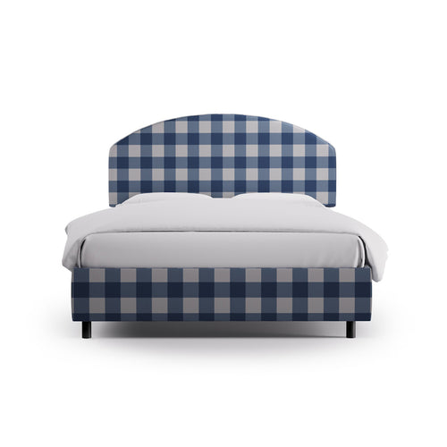 Demilune Bed -  French Blue Check