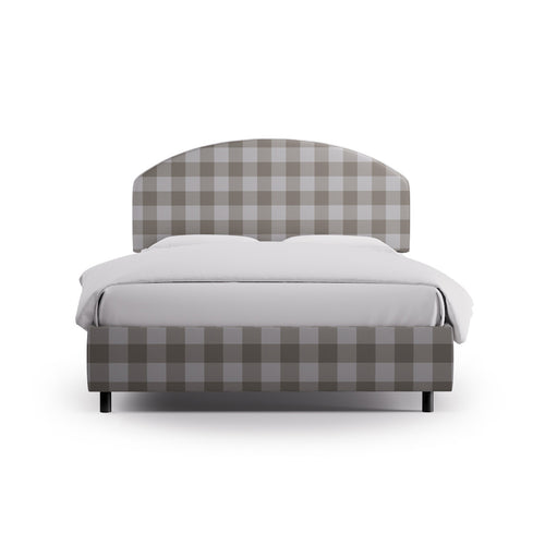 Demilune Bed -  Ivory Check