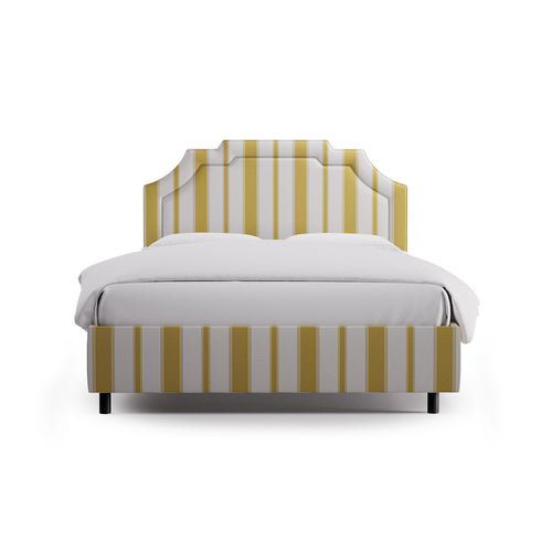 Art Deco Bed -  Citrine Clarence Stripe