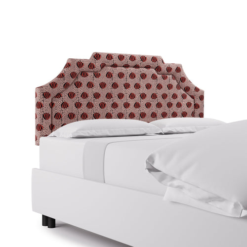 Art Deco Headboard -  Red Lotus By Clare