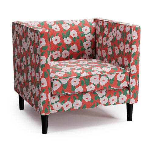 Tuxedo Chair -  Red Belle Du Jour By Clare