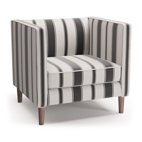 Tuxedo Chair -  Ink Clarence Stripe