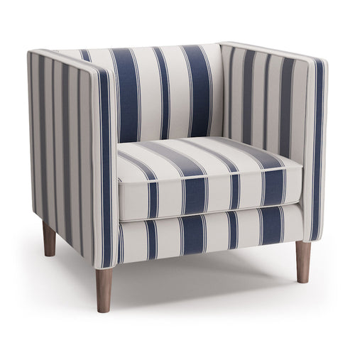 Tuxedo Chair -  Navy Clarence Stripe