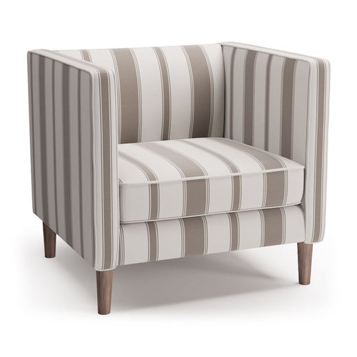 Tuxedo Chair -  Taupe Clarence Stripe