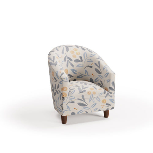 Kids Barrel Chair -  Budding Floral By Maisonette