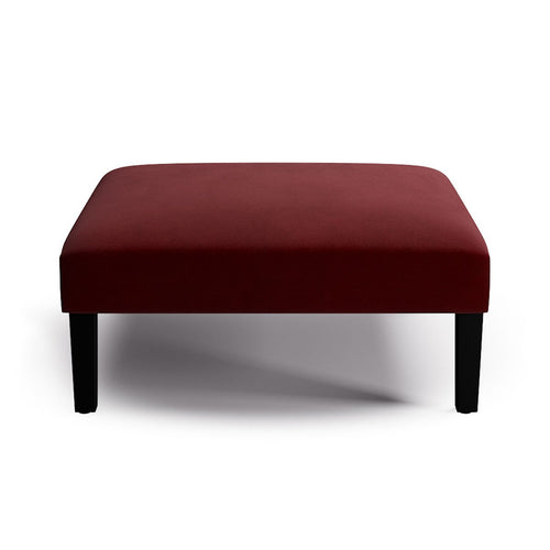 Cocktail Ottoman -  Bordeaux Velvet