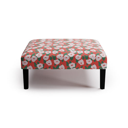 Cocktail Ottoman -  Red Belle Du Jour By Clare