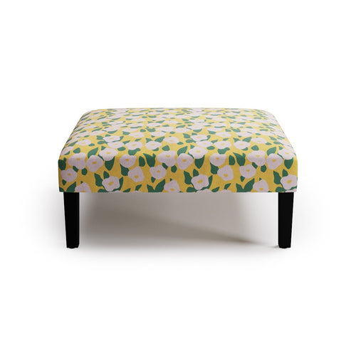 Cocktail Ottoman -  Yellow Belle Du Jour By Clare