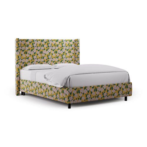 Modern Wingback Bed -  Yellow Belle Du Jour By Clare