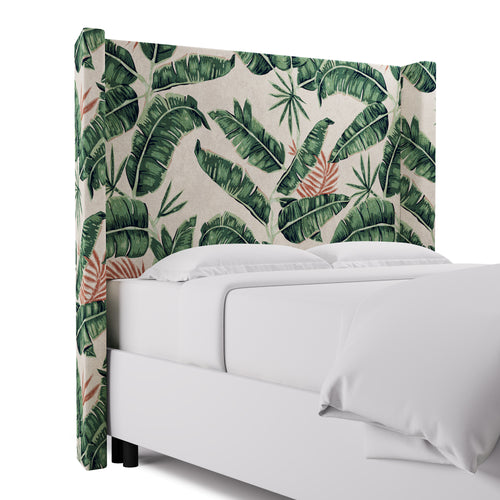 Modern Wingback Headboard -  Banana Palm