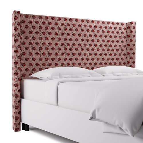 Modern Wingback Headboard -  Red Lotus By Clare