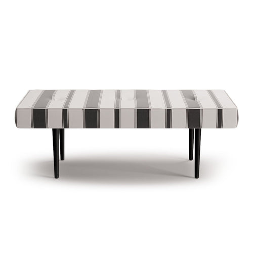 Mid-Century Bench -  Ink Clarence Stripe