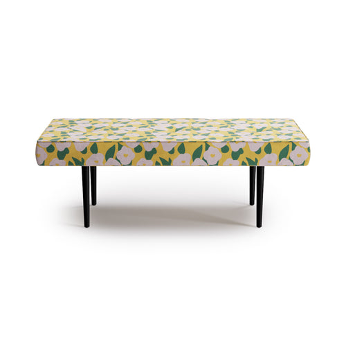 Mid-Century Bench -  Yellow Belle Du Jour By Clare