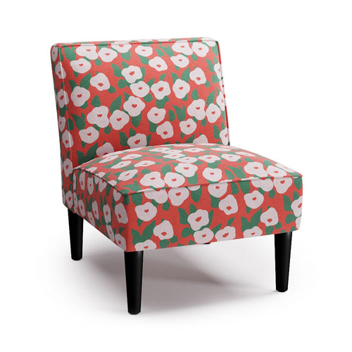 Slipper Chair -  Red Belle Du Jour By Clare