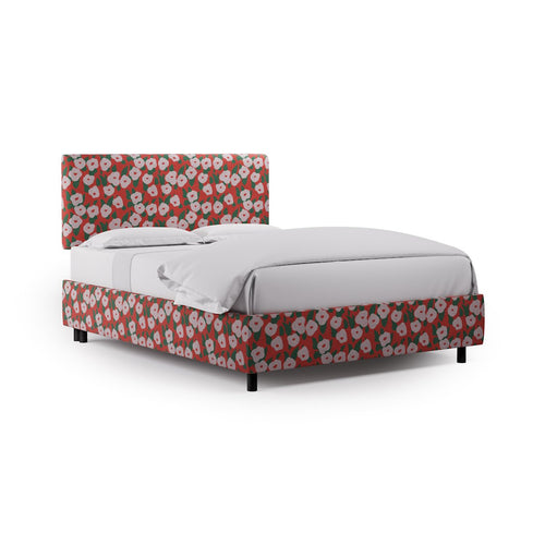 Square Back Bed -  Red Belle Du Jour By Clare
