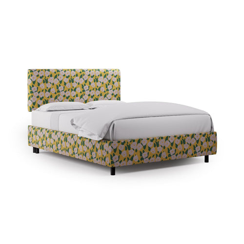 Square Back Bed -  Yellow Belle Du Jour By Clare