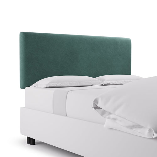 Square Back Headboard -  Aqua Velvet