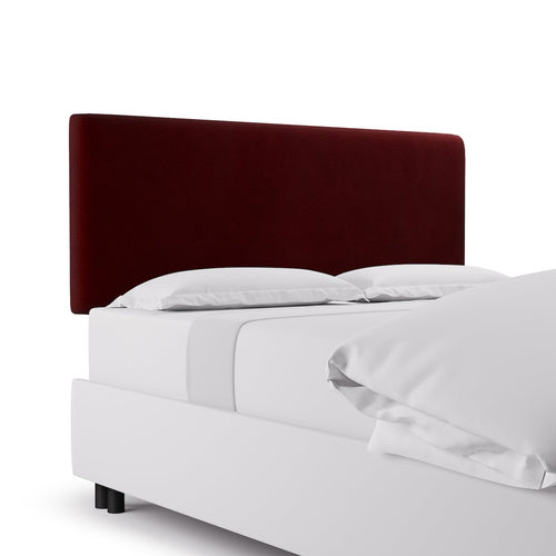 Square Back Headboard -  Bordeaux Velvet