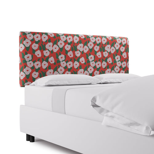 Square Back Headboard -  Red Belle Du Jour By Clare
