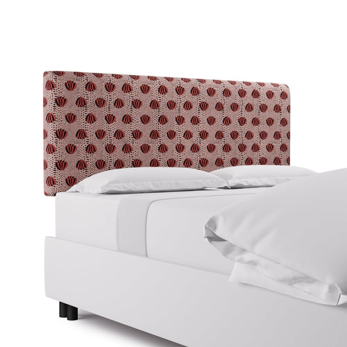 Square Back Headboard -  Red Lotus By Clare