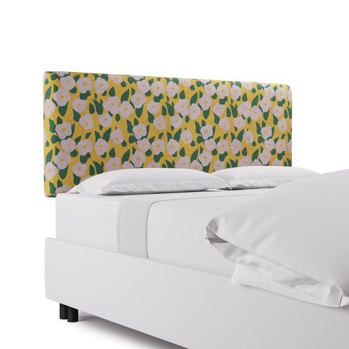Square Back Headboard -  Yellow Belle Du Jour By Clare