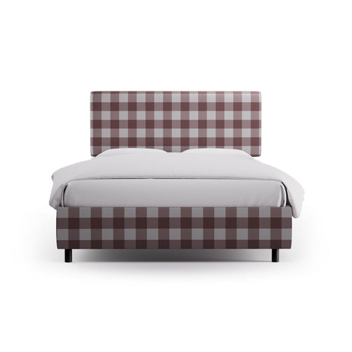 Square Back Bed -  Rose Check
