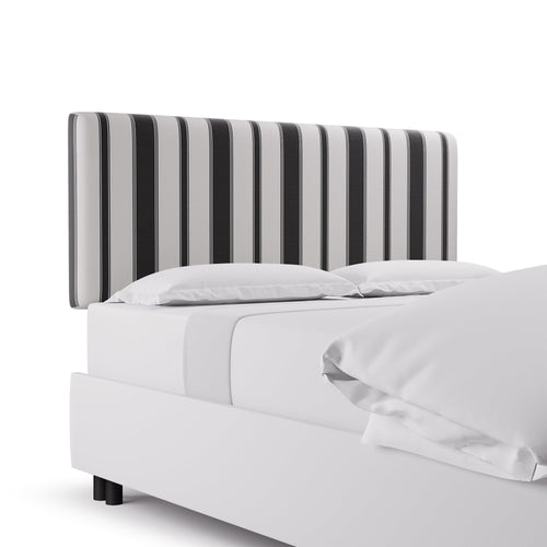 Square Back Headboard -  Ink Clarence Stripe