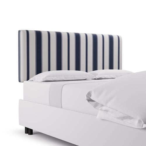 Square Back Headboard -  Navy Clarence Stripe