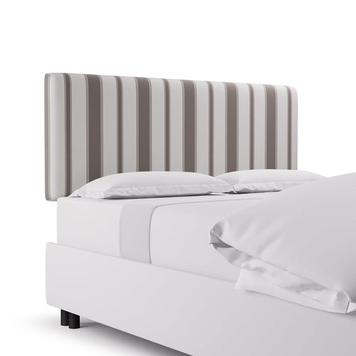 Square Back Headboard -  Taupe Clarence Stripe