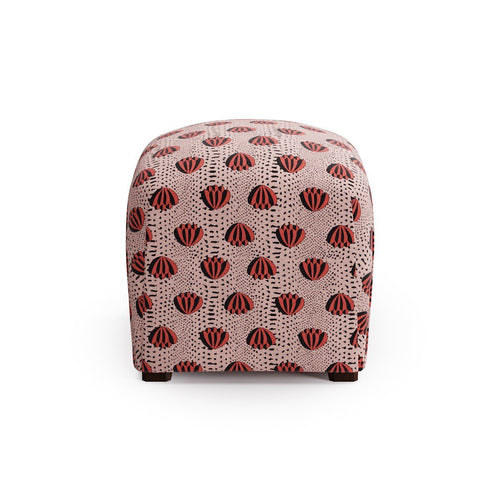 Deco Ottoman -  Red Lotus By Clare