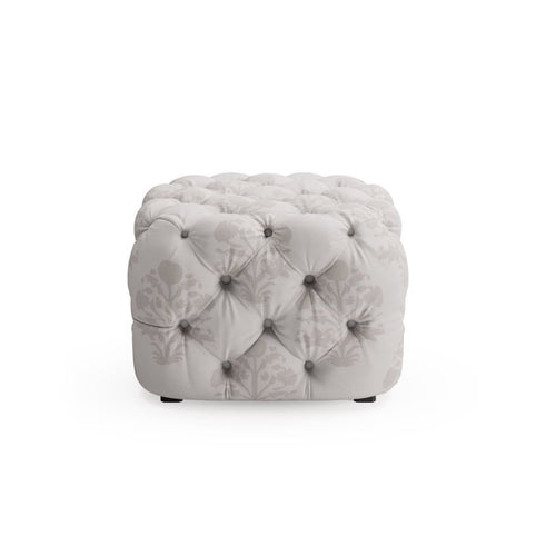 Tufted Ottoman -  Garden In Grey By The Everygirl