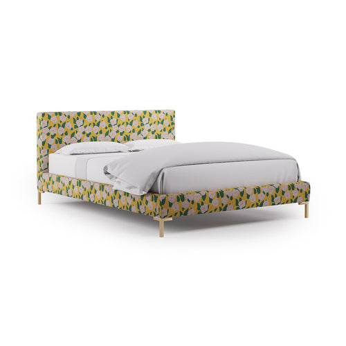 Modern Platform Bed -  Yellow Belle Du Jour By Clare
