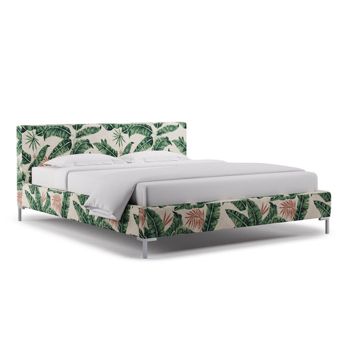 Modern Platform Bed -  Banana Palm