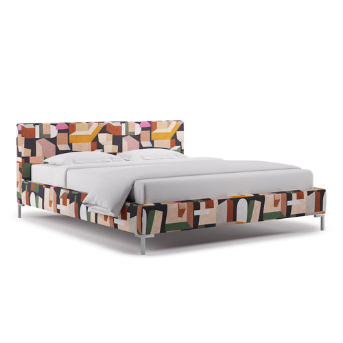 Modern Platform Bed -  Ink Melio