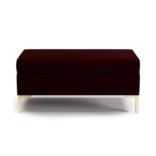 Modern Bench -  Bordeaux Linen