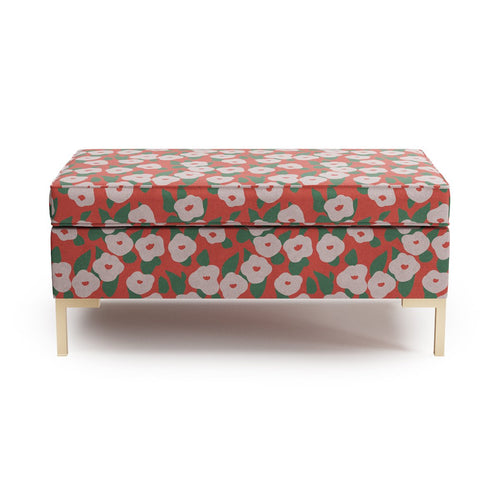 Modern Bench -  Red Belle Du Jour By Clare
