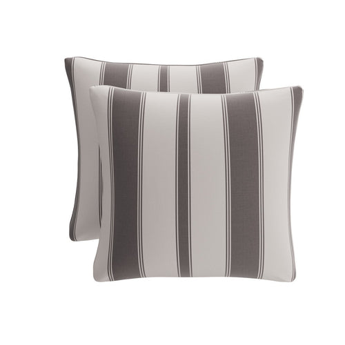 Throw Pillow -  Charcoal Clarence Stripe