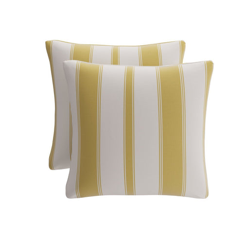 Throw Pillow -  Citrine Clarence Stripe
