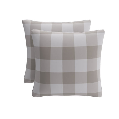 Throw Pillow -  Ivory Check