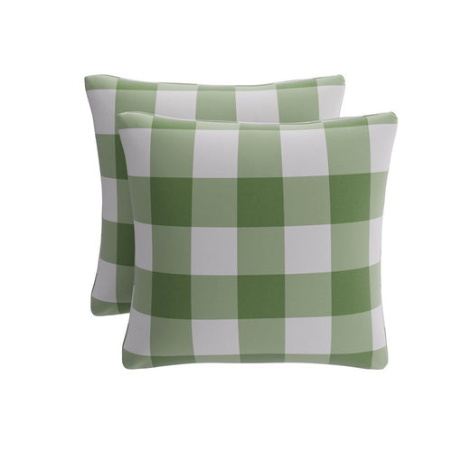 Throw Pillow -  Mint Check