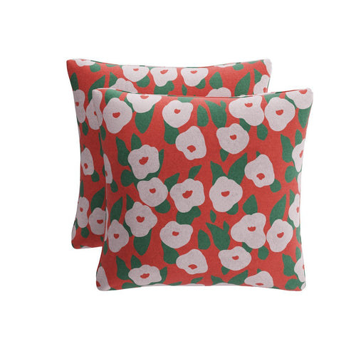 Throw Pillow -  Red Belle Du Jour By Clare