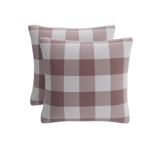 Throw Pillow -  Rose Check