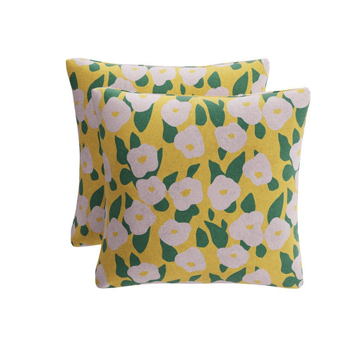 Throw Pillow -  Yellow Belle Du Jour By Clare