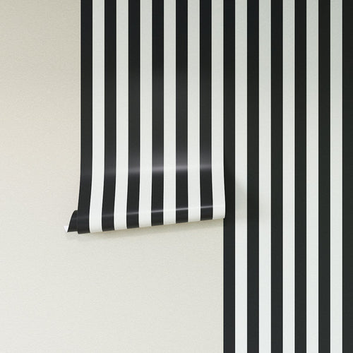Removable Wallpaper -  Ink Cabana Stripe Wallpaper