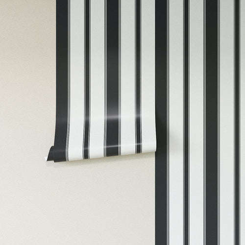 Removable Wallpaper -  Ink Clarence Stripe Wallpaper