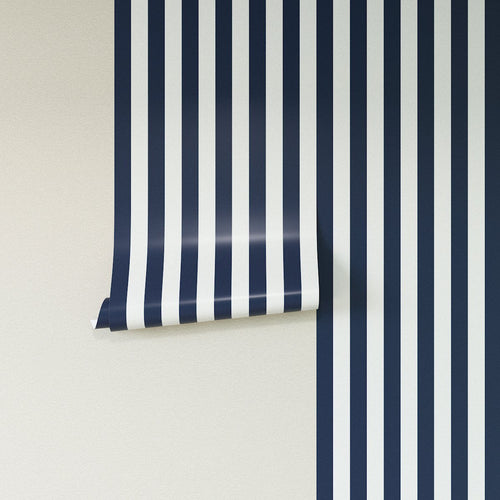 Removable Wallpaper -  Navy Cabana Stripe Wallpaper