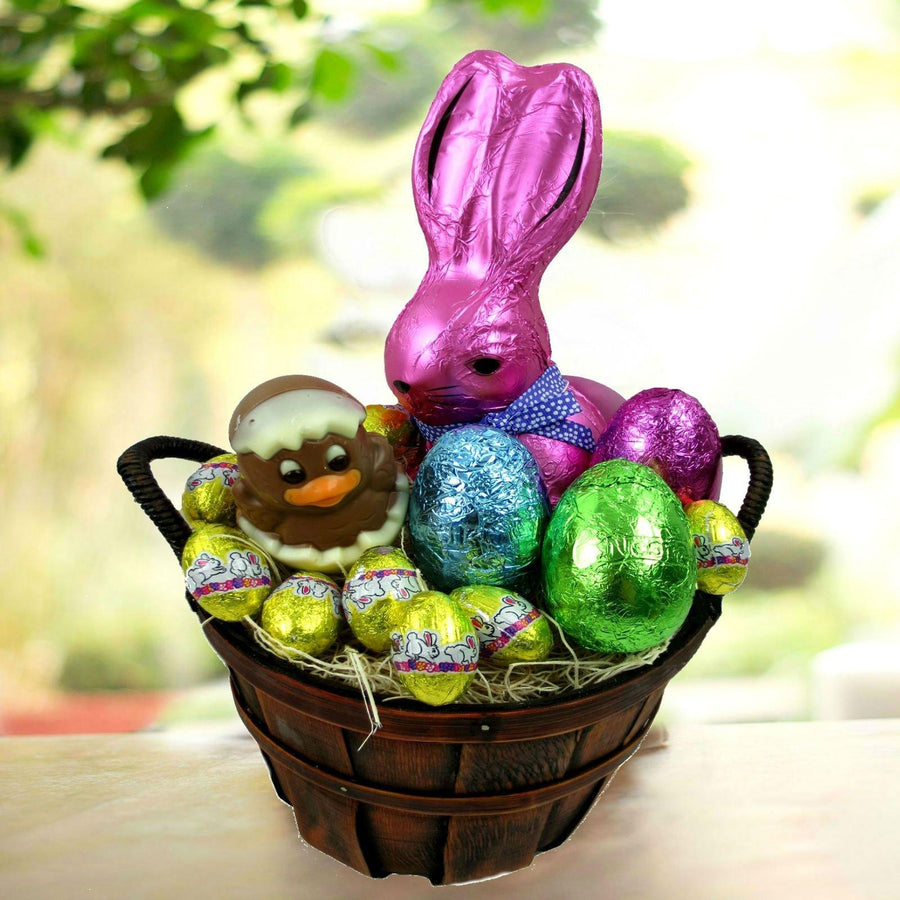 Easter gift baskets easter bunny and eggs gift basket negle Gallery